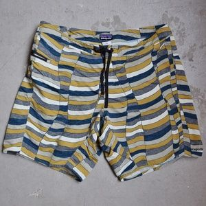 Patagonia Striped Board Short with Front Pocket